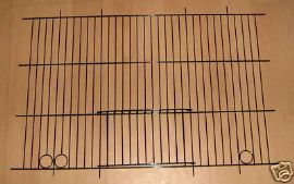 "2 x WADES BLACK POPULAR CANARY CAGE FRONTS 18"" x 12"""